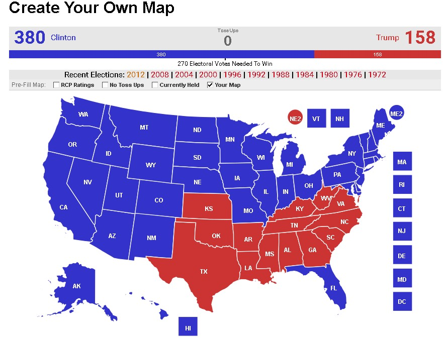 Make your own Electoral Map! | AnandTech Forums: Technology ...